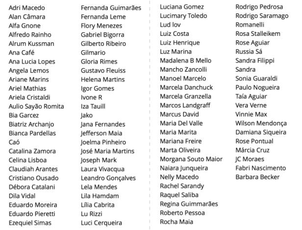 lista artistas