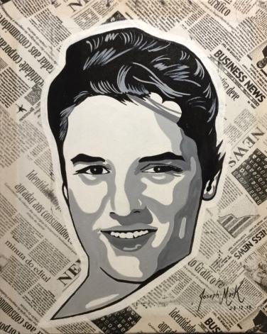 """Joseph Mark """"Elvis"""" 50cm x 60cm mista"""